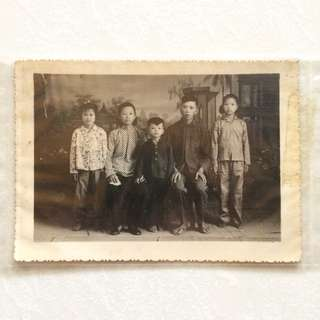 Vintage Old Family Photo