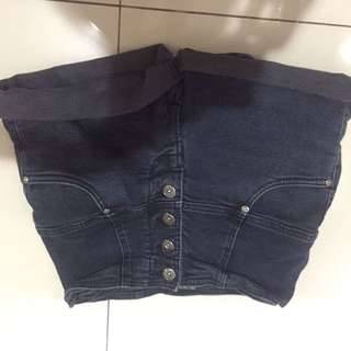 Short jeans celana pendek high waisted