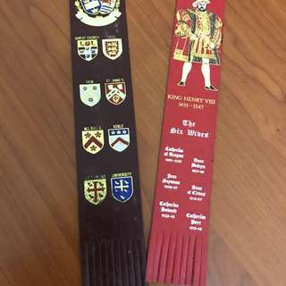 London bookmarks made of leather