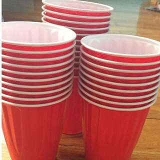 New Kirkland Beer Pong Cups with Ping Pong Balls