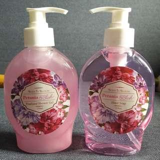 Petunia blush shower gel & hand soap