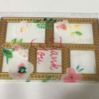 Frame gold die cut