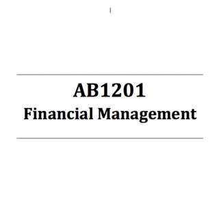 AB1201 Financial Management NBS Self-made bible