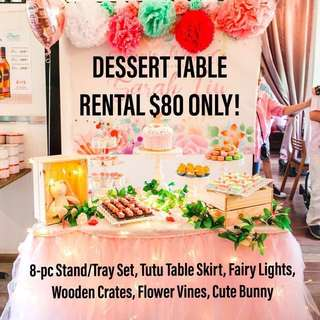 Dessert Table Stands Trays Decor Props Rental Tutu Table Skirting