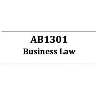 AB1301 Business Law Self-made bible