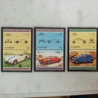 St.Vincent Auto100 Vintage Car Stamps 1935