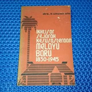 🆒 Vintage 1972 Ikhtisar Sejarah Kesusasteraan Melayu Baru 1830-1945 by Drs. Li Chuan Siu