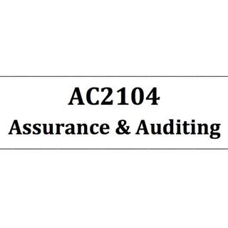 AC2104 Assurance and Auditing NBS Self-made bible