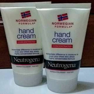 Neutrogena hand cream (concentrated)