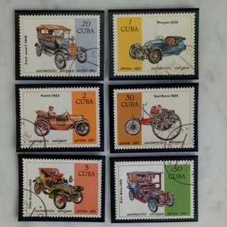 Cuba Antique Car Stamp collection 1984