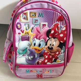 Preloved Disney Minnie and Daisy Girl/Toddler Pink Bag/Backpack