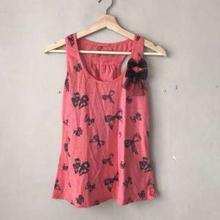 FOX pink ribbon tank top