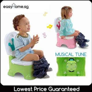 Crown Potty /With Music Option / 4 English Tunes to Reward Kids Children for Pooping / Urine ~
