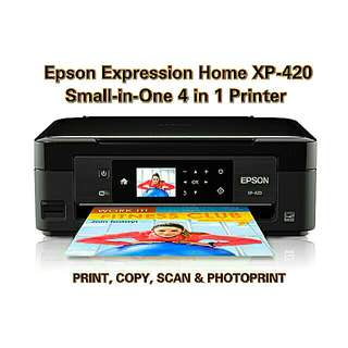 COD EPSON XP-420 Small-in-One 4 in 1 MULTIFUNCTIONAL PRINTER!