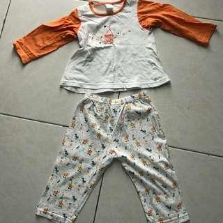 Pigeon pyjama set size s