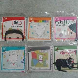 麥當勞 開心樂園餐 林嘉欣《親親小團圓》繪本系列(1套6本)