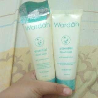 [40k For 2] Wardah Essential Facial Wash Dan Facial Mask