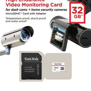 Brand New SanDisk High Endurance 32Gb micro SD  selling at $25.90