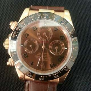 Rolex,18k rose gold,Glniva Swiss,100% working