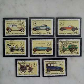 60th anniversary of mercs Benz Korea stamp collection