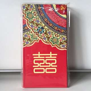Wedding Red Packet with Floral Design (10pcs)