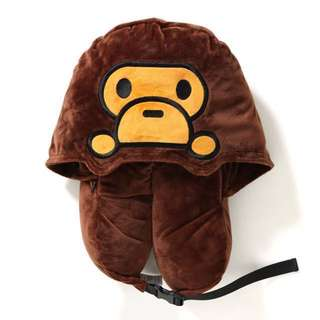 BAPE BABY MILO TRAVEL PILLOW WITH HAT