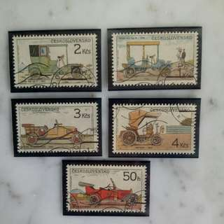 Antique car stamp collection