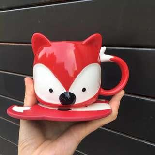 Starbucks 2017 Christmas Red Fox Mug