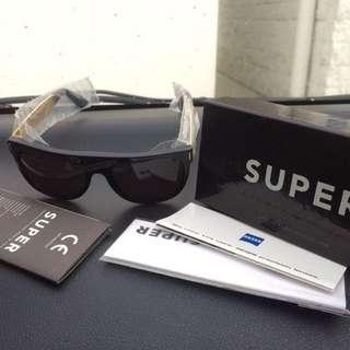 RetroSuperFuture sunglass super flat gold black