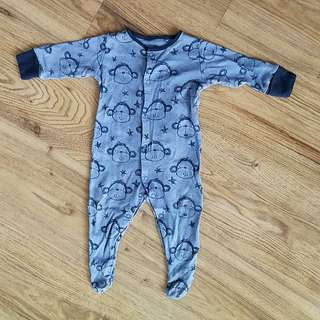 Next Baby Sleepsuit 6-9 Monkey