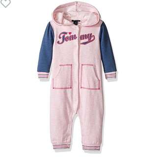 BN Tommy Hilfiger Baby Girl Logo One Piece Coverall 3-6mths
