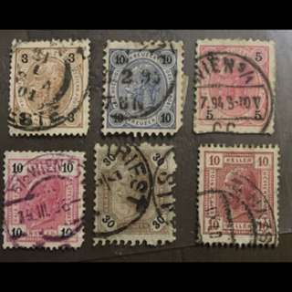 Germany early 6v stamps used