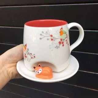Starbucks 2017 Christmas Sleeping Fox Mug