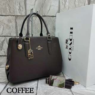 Coach Satchel Tote Bag Coffee Color