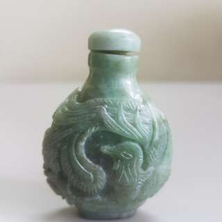 Green Jade Snuff Bottle