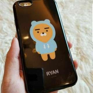 濟州Kakao Ryan公仔黑色手機殼for iPhone 6/6s
