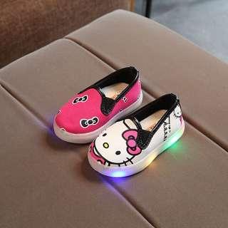 👟Kids LED Flash Light Canvas Shoes Boys Girls Cartoon Shoes👟