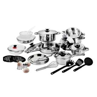 KM Stainless Steel 29pcs Cookware Set Silver