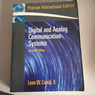 Digital and Analog Communications Systems