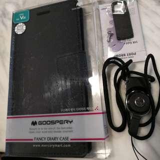 全新 LG V20 手機套 全黑 翻蓋