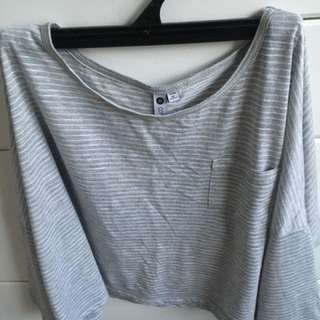 Slouchy Cotton On grey top