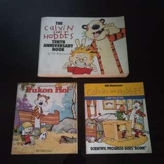 Set of Calvin and Hobbes Comic Books