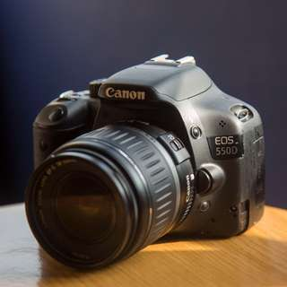 Canon 550D with EF-S 18-55mm Lens