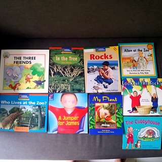17 preschool English books : Reading Bee & national Geographic