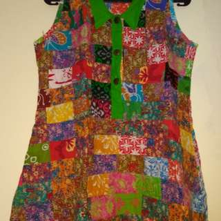 Mini Dress Batik Perca