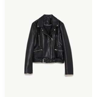 Zara Faux Leather Biker Jacket 皮褸