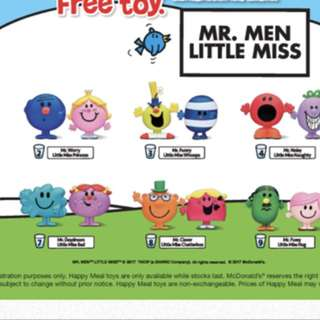 Mr. Men/Little Miss (McDonalds Happy Meal Toy)- Mr Clever & Little Miss Chatterbox