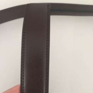 BN genuine leather replacement belt strap dark brown without buckle