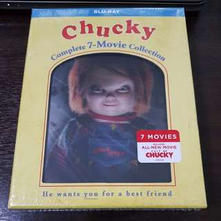 Chucky Complete 7 Movie Collection Bluray Boxset | New and Sealed | 7 discs