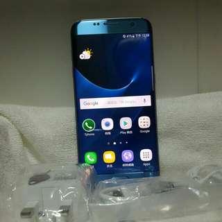 Samsung S7 edge32G blue。曲屏單卡,可置內存卡,非常新淨如圖所示。7日壞機包換